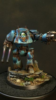 Painted 40K : Ultramarines Contemptor Dreadnought, Painted by LUK