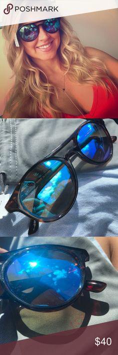 J. Crew Sunglasses Blue/green lenses, brown tortoise frames, lightweight and super comfortable! Brand new, never worn- make me an offer! Reg $60 J. Crew Accessories Sunglasses