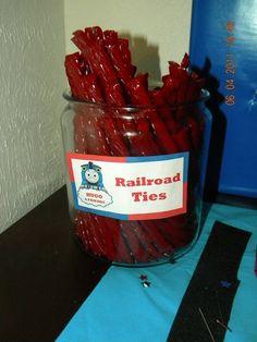 railroad ties...twizzlers