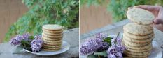 Butter Cookies with lilac
