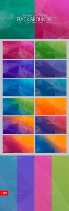 26 Polygons Backgrounds by AstroBot | GraphicRiver App Background, Background Images Wallpapers, Backgrounds, Project Yourself, Abstract, Summary, Backdrops