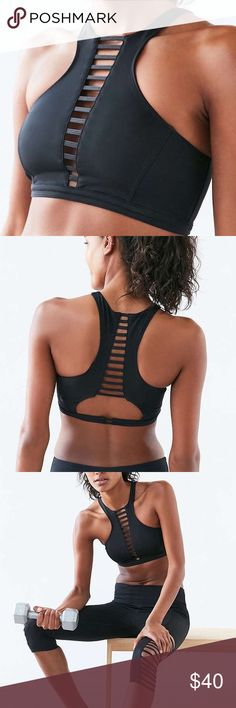 5360a4ed82 NWT UO Without Walls splice halter sport bra Pair with the crisscross  legging for a bundle