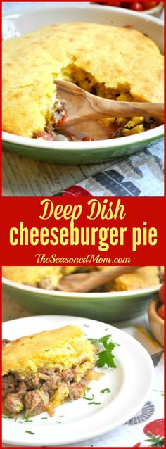 Deep Dish Cheeseburger Pie