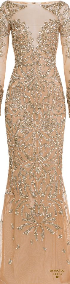 ZUHAIR MURAD Embellished Floor-Length Gown | LOLO❤︎   jaglady