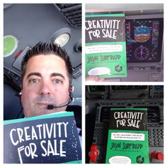 Aaron is a commercial pilot who took Creativity For Sale 30,000 feet up in the air and read some chapters at 555mph! SO COOL!