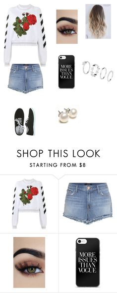 """""""Uh lala !!"""" by ciana-si on Polyvore featuring moda, Off-White, J Brand e Vans"""