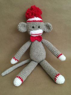 Amigurumi sock monkey, handmade sock monkey, monkey by Sanaya321 on Etsy