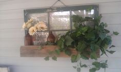 Flower box..another re purposed window