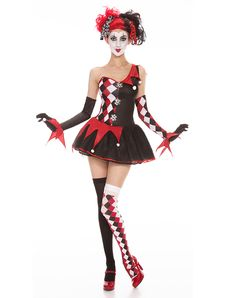 Harlequin Adult Womens Costume.... Different make up though