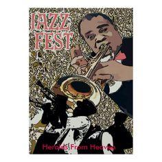 Jazz Fest Poster, add text