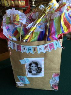 50th birthday party gift bag