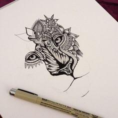Resultado de imagen para black lion mandala tattoo