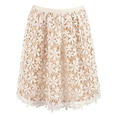 Hoss Intropia Lace Crochet Skirt