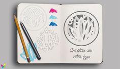 Création graphique Creations, Notebook, Logo, Logos, The Notebook, Exercise Book, Environmental Print, Notebooks
