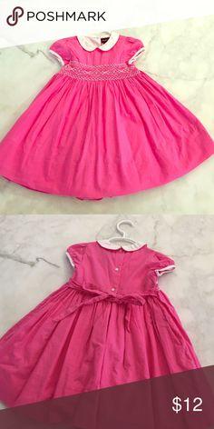 Ralph Lauren Girls pink smock dress. 24 mo. Adorable bright pink smocked Ralph Lauren girls dress. Perfect for Easter. Full skirt for twirling. Tie in back. Ralph Lauren Dresses Formal