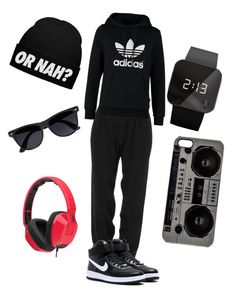 Untitled #64 by aysiastyle on Polyvore featuring polyvore fashion style adidas Originals ATM by Anthony Thomas Melillo NIKE 1:Face Zero Gravity Skullcandy River Island clothing