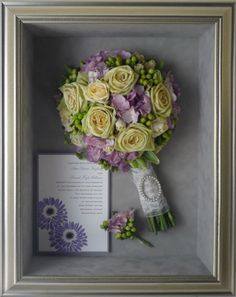Have your #Wedding #Bouquet preserved and kept in a Custom Frame! Great for display in your new home!    www.freezeframeit.com