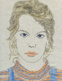 Sue Stone 63 - a work in progress - 18 Portrait Embroidery, Embroidery Art, Embroidery Stitches, Creative Embroidery, Thread Art, Thread Painting, Collages, Contemporary Embroidery, Textile Artists