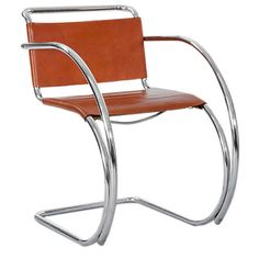 Pair of D42 Bauhaus Chairs by Mies van der Rohe | From a unique collection of antique and modern armchairs at http://www.1stdibs.com/furniture/seating/armchairs/