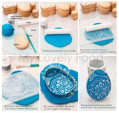 fondant stenciling tutorial - This would also work with clay & mica powders