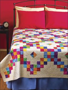 Quilting - Bed Quilt Patterns - Scrap Quilt Patterns - Diamond Candy