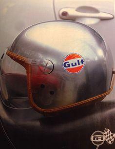 Gulf Helmets su #Riders 78 pag.30 Racing Helmets, Riding Gear, Biker, Culture, Retro, Hats, Sweet, Poster, Fashion
