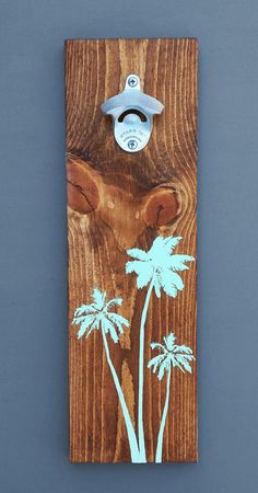 Wood Wall Mount Beer Bottle Opener Palm by CoffeeDiemDryGoods