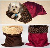 Dog beds you can make at home plus dog craft projects. How to make a bed for your dog, snuggle sack, and dog pillows. Plus cleaning tips