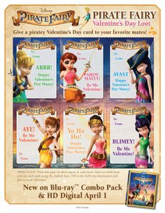 """About The Movie """"Tinker Bell and The Pirate Fairy"""" charts a course for the most exciting Disney Fairies adventure ever! When a misunderstood dust-keeper fairy named Zarina steals Pixie Hollow'… Tinkerbell And Friends, Tinkerbell Party, Tinkerbell Fairies, Christina Hendricks, Pirate Fairy Cake, Pirate Party, Disney Faries, Fairy Templates, Pop Baby Showers"""