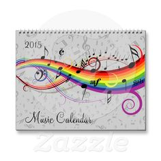 2015 Music Calendar | Zazzle A calendar for 2015 for the musician, composer or music lover featuring a different eye-catching musical design for each month. Musical notes and keyboards feature in this colorful calendar which will bring music alive on your wall. Show the world your love of all things musical!