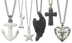 Nymphenburg Glazed Essentials - The first Nymphenburg Glazed Essentials porcelain jewelry line was successful and now Patrik Muff has created the Nymphenburg Glazed Essentials II. Porcelain Jewelry, Halloween Accessories, Scary Halloween, Glaze, Arrow Necklace, Jewelery, Chandelier, Pendants, Ceiling Lights