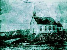 Première Église de Saint-André du Lac Saint-Jean fin des années 1800.