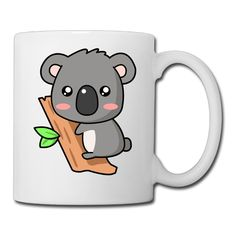 White Cute Koala Baby Cartoon Ceramic Coffee Tea Cup 11oz Unisex Printed On Both Sides *** Check out this great image  : Cat mug