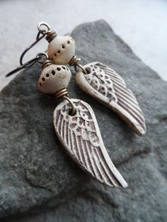 Angels Among Us ... Natural Ceramic and Brass by juliethelen