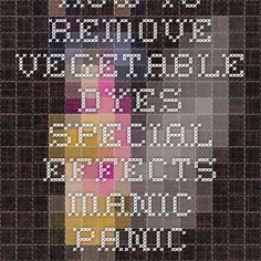 How To Remove Vegetable Dyes Special Effects Manic Panic Black Soapcap  Bleach Colour Stripper. Vegetable Hair DyeSpecial Effects Hair ...