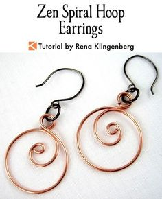 Zen Spiral Hoop Earrings Tutorial | Spiral Wire Earrings | Spiral Wire Wrap Tutorial | Easy Wire Earrings DIY