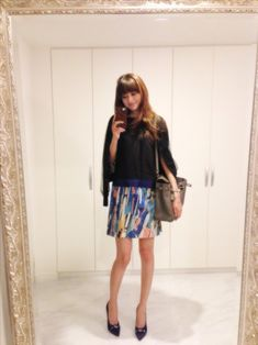 今日の私服♪ の画像|ヨンアオフィシャルブログ「Youn-a's blog」Powered by Ameba Asian Woman, Lady, Floral, Skirts, How To Make, Image, Beauty, Nice, Fashion