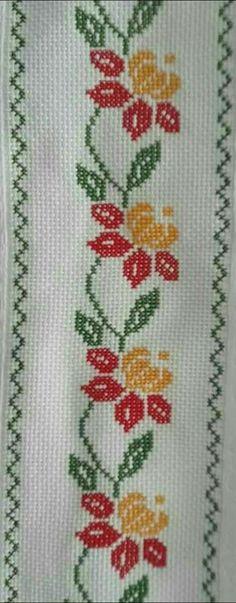 Blumenranke [] #  # #Sny,  # #Embroidery,  # #Cross #Stitch,  # #Beautiful,  # #Flower
