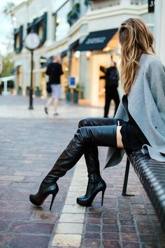 40 In-trend High Boots Outfits to carry your Attitude