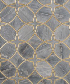 "Moscow Grande Borealis Blue and Brass - this is a large pattern - this image shows 30x36"" sample"