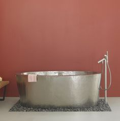 Wow! Can you imagine taking a dip in this tub? Aspen in Brushed Nickel #bathtub from Home Living Style: http://shrsl.com/?~6uo3