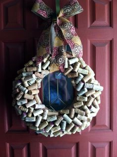 My first wine cork wreath.