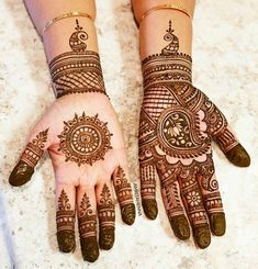Traditional Indian Henna designs for the Bride's Mom 💕 Indian Henna Designs, Beautiful Henna Designs, Mehndi Designs, Wedding Mehndi, Bridal Henna, Top Fitness Models, Mehendi, Best Makeup Products, Fitness Fashion