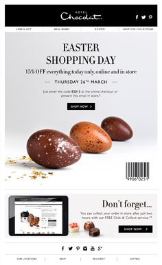 Hotel-Chocolat Easter email inspiration