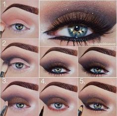 Make up Inspiration: Dramatic Smokey Eye Love Makeup, Makeup Tips, Makeup Looks, Hair Makeup, Makeup Ideas, Makeup Style, Mac Soft Brown, Brown Brown, Eye Trends