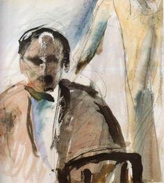Self Portrait, 1923 George Bouzianis Painter, Self Portrait, Art Database, Painting, Greek Art, Human Figure, Visual Art, Art, Artwork Painting
