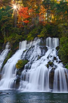'Sunburst Cascade' - by Raven Mountain Images (Phillip Noll), at Waterfall on the Caney Fork River at Rock Island State Park in Tennessee Oh The Places You'll Go, Places To Travel, Places To Visit, Beautiful Waterfalls, Beautiful Landscapes, Rock Island State Park, Mountain Images, Nature Landscape, Twin Falls