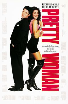 Pretty Woman, This romantic comedy Cinderella tale stars Julia Roberts and Richard Gere. This is the film that made Julia Roberts a star. Richard Gere, Julia Roberts, See Movie, Movie Tv, 80s Movie Posters, Pretty Woman Film, Pretty Movie, Bon Film, Movies Worth Watching