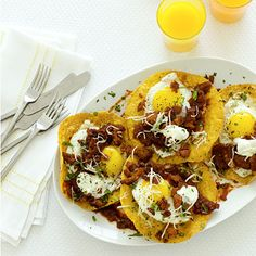 Whip this up for #breakfast, #lunch, OR, #dinner. Ranch-Style Eggs With Chorizo created by #Bobbyflay   Health.com