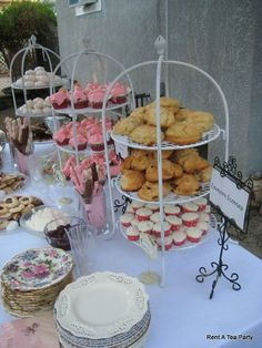 Baby Shower tea party. For a baby girl. Dessert tea. Candle light. Evening tea party
